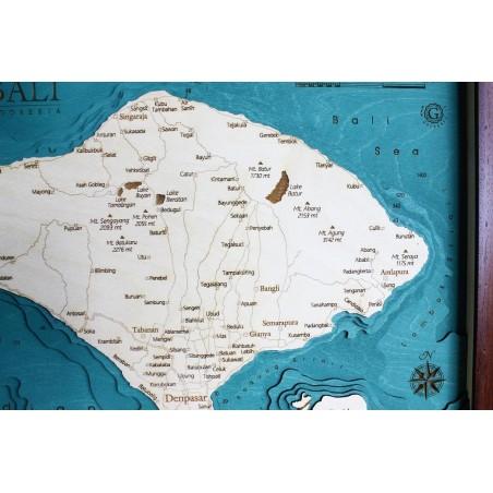 Cartina Bali Indonesia.Bali Indonesia