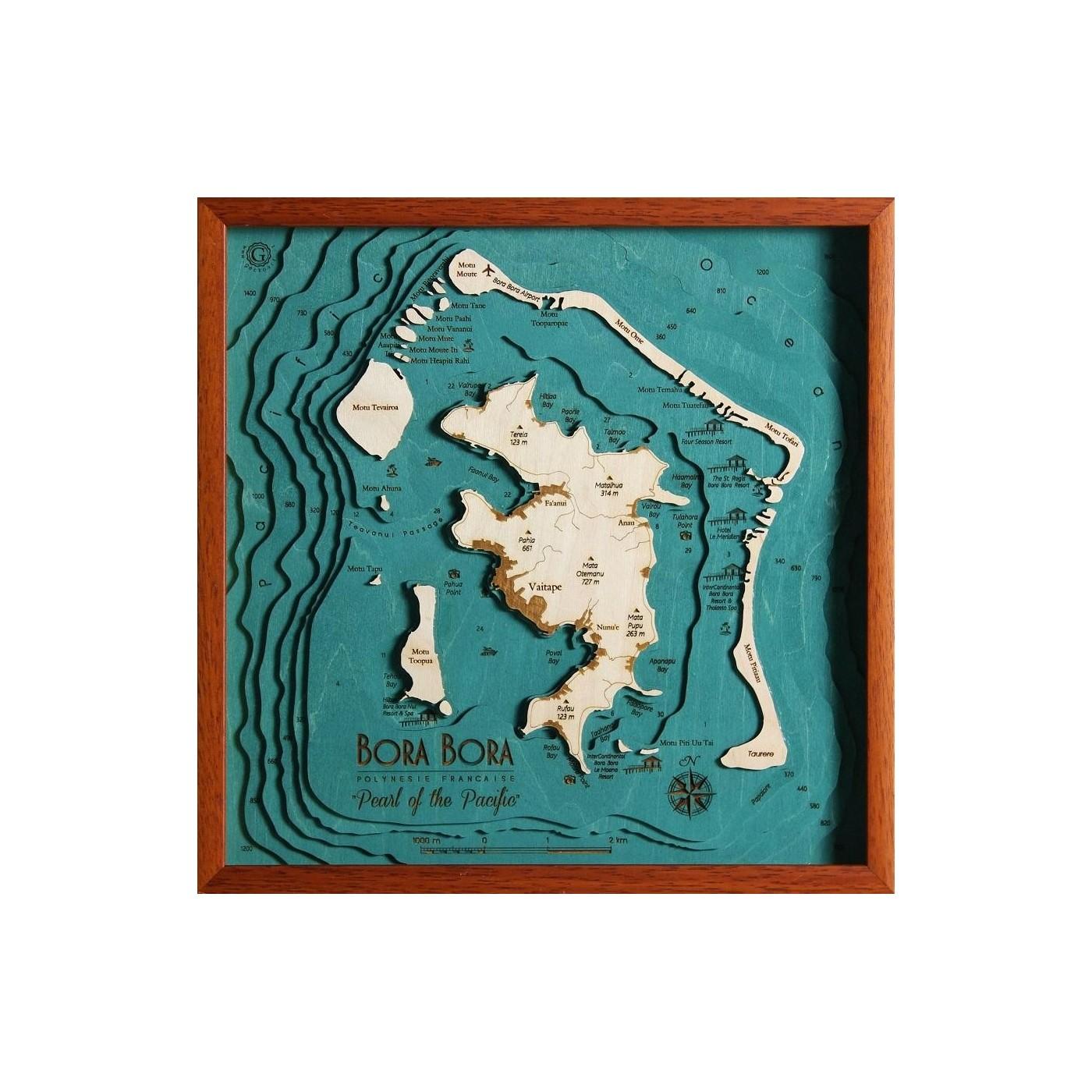 Cartina Mondo Bora Bora.Bora Bora Polinesia Francese