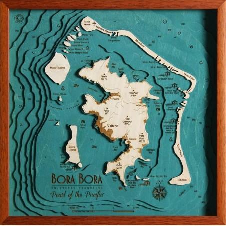 Cartina Mondo Bora Bora.Mappa Bora Bora Polinesia Francese