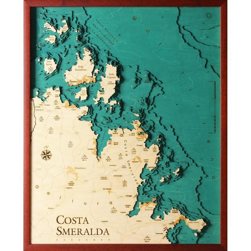 Isole Sardegna Cartina.Costa Smeralda Sardegna