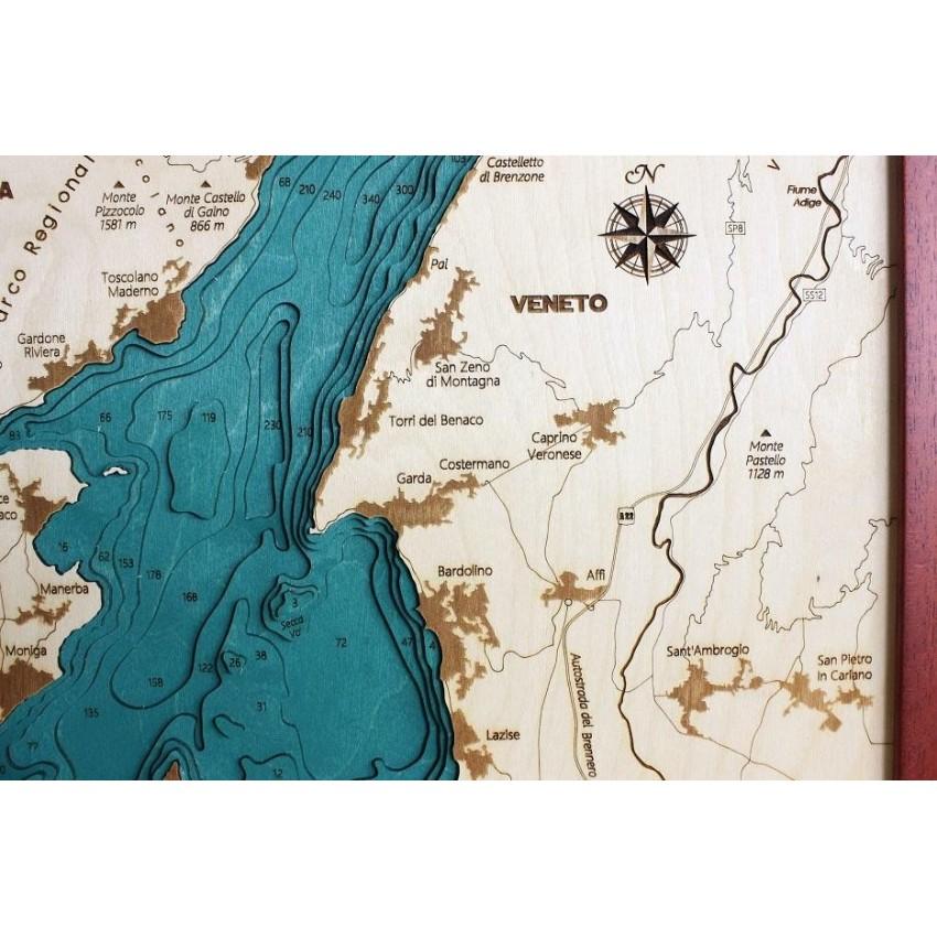 Lago Di Garda Cartina Fisica.Lago Di Garda