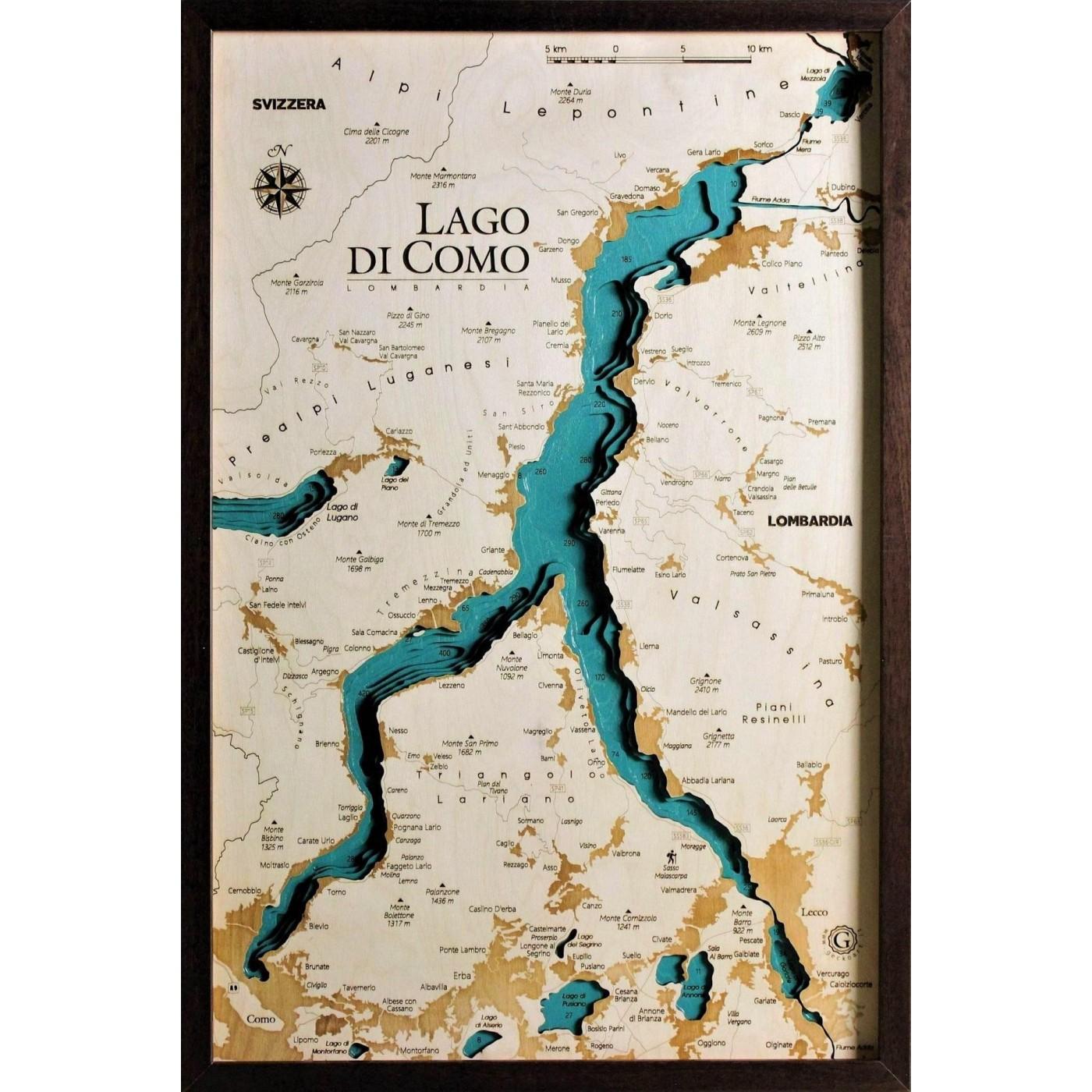 Lavello Potenza Cartina Geografica.Mappa Del Lago Di Como