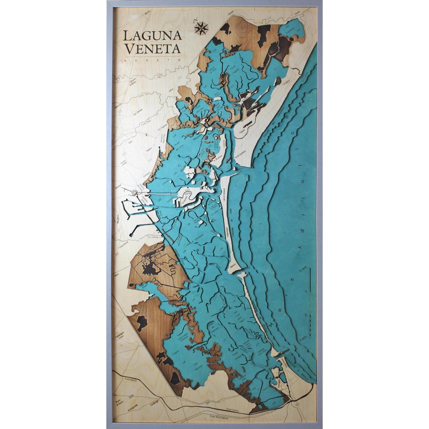 Litorale Veneto Cartina.Laguna Veneta Versione Verticale