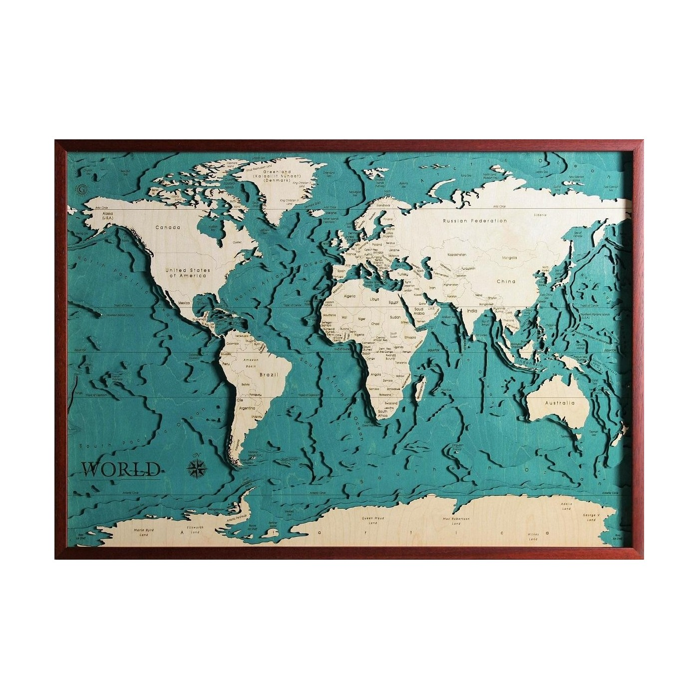 Cartina Mondo Da Riempire.Mondo Versione Inglese