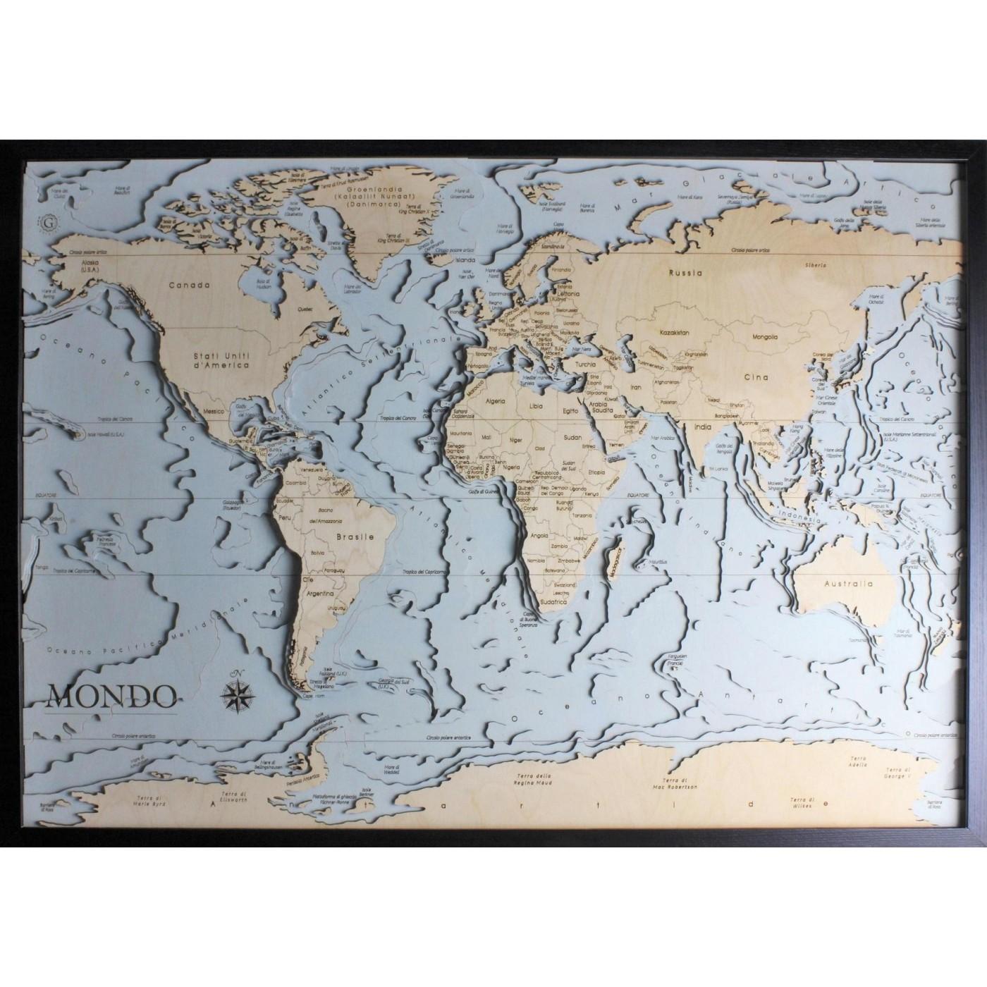 Cartina Mondo Italiana.Mondo Versione Italiana