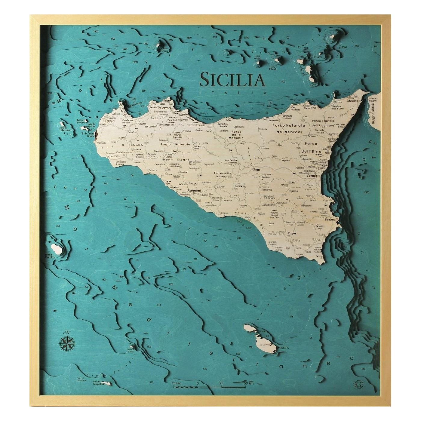 Cartina Mappa Sicilia.Sicilia Versione Completa
