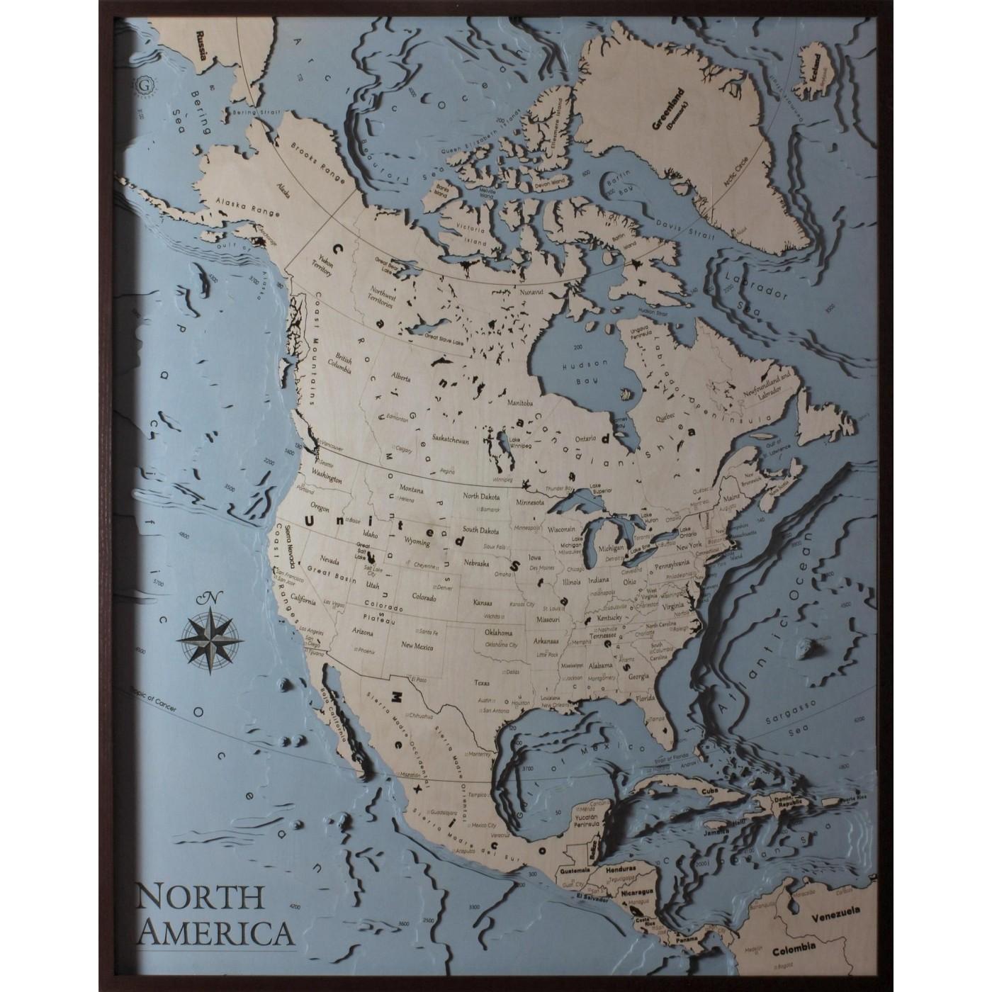 Cartina 1400.America Del Nord