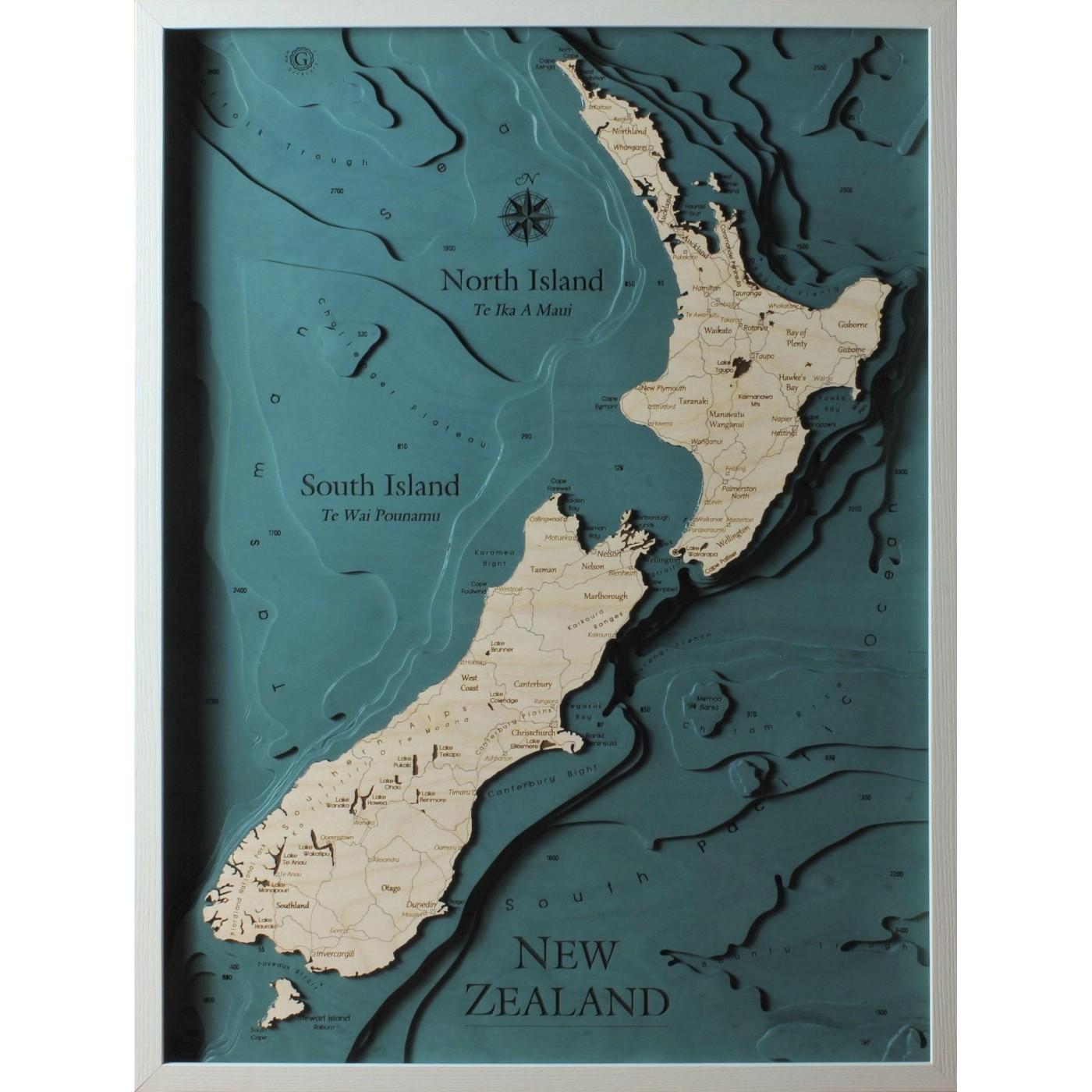 Cartina Nuova Zelanda.Nuova Zelanda